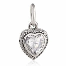 authentic 925 sterling silver beads CZ Dangle Charm Pendant with genuine charms