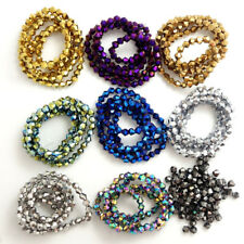 Wholesale Bicone Faceted 5301# Crystal Glass Loose Spacer Beads 3mm/4mm/6mm DIY