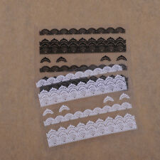 3D Lace Design Nail Art Stickers Decals Manicure Tips Women Girl DIY Decor Tool