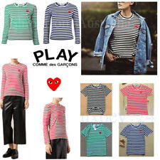 UNISEX CDG COMME DES GARCONS PLAY Red Stripe STRIPED LONG SLEEVE Dot T-SHIRT