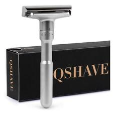 QSHAVE Double Edge Mens Shaving Shaver With 5 Blades Own Name Adjustable Razor