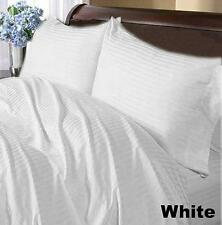 Extremely Soft Bedding Item 1000TC Egyptian-Cotton All UK Size White Striped