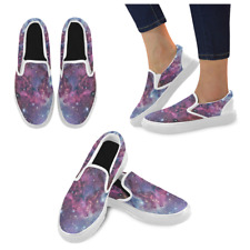Universe Galaxy Space Fashion Women's Unusual Loafers Slip-on Flats Canvas Shoes