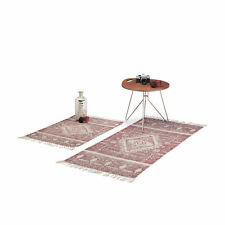 Ethnic Carpet Runner for Hallways, Patterned Red Area Rug 60x90 or 70x140 cm