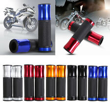 "7/8"" CNC Motorcycle Bike Bicycle Aluminum Handlebar Rubber Gel Hand Grips"