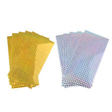 5 Pieces Fishing Lure Tape Sticker Holographic Adhesive Film Flash Tape DIY