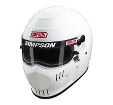 Simpson Speedway RX Helmet/Lid SA2015 Oval/Track - White - All Sizes