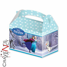 Frozen Birthday Party Boxes X 4 Food Lunch Treat Favour Cake Boxes Loot Stuffer