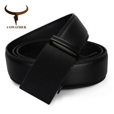 COWATHER® Newest Mens Belt Top Cow Genuine Leather Automatic Buckle Belts Causal