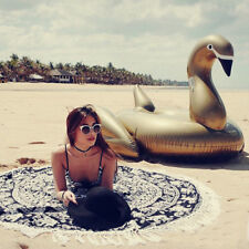 YhsBUY® 150cm Giant Gold Swan Float Inflatable Flamingo Ride-On Pool Lounge