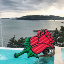 YhsBUY® 190CM Giant Inflatable Red Rose Flower Pool Float Swimming Air Mattress
