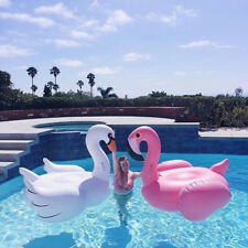 YhsBUY® Inflatable Flamingo Swimming Pool Float Summer Island Ride on White Swan