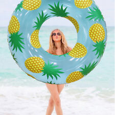 YhsBUY® 105cm Giant Inflatable Pineapple Print Swimming Ring Pool Float Circle