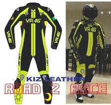 New VR46 Motorbike / Motorcycle Racing Cowhide Leather Suit 1 & 2PCS