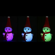 Christmas Changing Color LED Light Multi-Color Magic Novelty Star Snowman Lamp