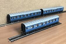 Hornby  rake of 3 LMS Coronation Scot Blue &  Silver Coaches