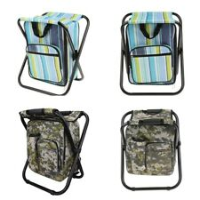 Waterproof Travel Hiking Backpack Chair Foldable Camping Outdoor Daypack