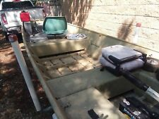 `1988 14 FT. ROVER JON MUB BOAT WITH 6.5 HP JOHNSON OUTBOARD MOTOR