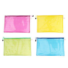 Waterproof A4 Size Mesh Document Bag Storage Pouch with Zipper Stationery