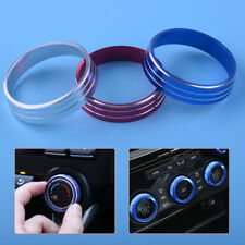 3x AC Heater Climate Control Buttons Knob Cover Trim Ring For Lancer Outlander
