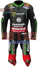 New Kawas sykes MOTOGP Motorcycle/Motorbike Racing Cowhide Leather Suit