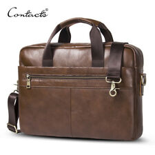 Contacts® Business Genuine Leather Men Briefcase Cowhide Messenger Bag