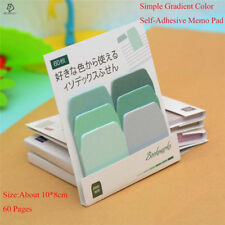 JESJELIU® Simple Gradient Color memo pad sticky notes Self-Adhesive
