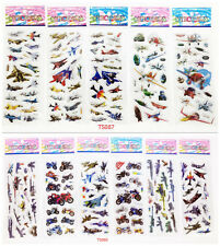 Stereoscopic cartoon stickers children's toys Bubble 11 sheets / lot kids gift