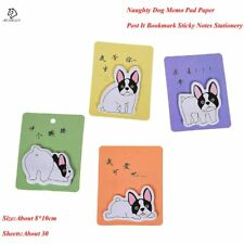 JESJELIU® 30 Pages Kawaii Naughty Dog Memo Pad Sticky Notes Self-Adhesive Lovely