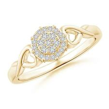 H SI2 Natural Diamond Heart Cluster Engagement Ring 14k Gold/Platinum Size 3-13