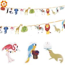 DIYHouse® 1PC/Set Happy Birthday Paper Flag Animal Party Bell Garland Banner