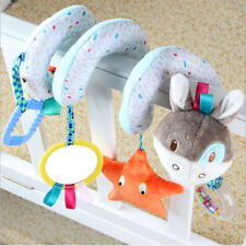 Newborn Baby Animals Spiral Rattle Infant Bed Stroller Crib Plush Doll Bell Toy