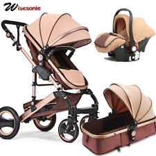 UVN Baby Stroller safety High view Pram foldable pushchair bassinet car seat
