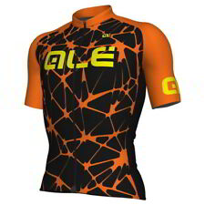 Ale Solid Cracle Black-Orange Jersey