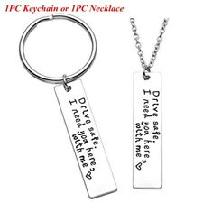 Fashion Drive Safe Handsome Keyring Stainless Steel Pendant Trucker Key Chains