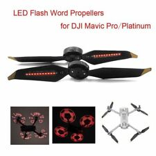 Low-Noise LED Flash Word Propeller Props For DJI Mavic Pro/Platinum DIY image