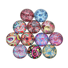 NEW Mixed color round glass cabochon gem inlaid jewelry accessories 10/20pcs