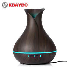 KBAYBO 400ml Aroma Essential Oil Diffuser Ultrasonic Air Humidifier with Wood Gr