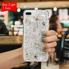 Cute Bling Glitter Protective Shiny Hard Clear Case Cover For iPhone 7Plus 8Plus