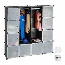 Modular Wardrobe System, 12 Compartments, Plastic Wardrobe Closet Shoe Cabinet