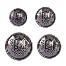 10pc Silver Skull Crossbones Round Shank Buttons Sewing DIY Craft Embellishment