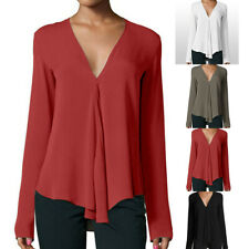 Blouse Tops Shirts Plus Size Oversize T-Shirt Ladies Long Sleeve Loose Office