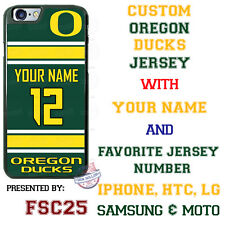 Oregon Ducks Football Personalized Jersey Phone Case for iPhone Samsung LG etc.