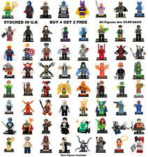 DC Marvel Minifigure Batman Justice League Lego & Custom Mini Figure All £2.49
