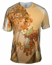 "Yizzam- Alphonse Mucha - ""Fruit"" (1897) - New Men Unisex Tee Shirt XS S M L XL"