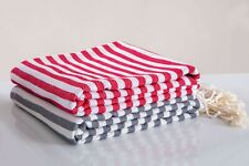 Striped 100% Cotton Beach Towel, Soft Large Turkish Bath Towel by Hencely