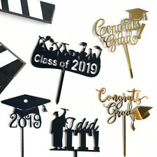 Cupcake Party Cake Picks Doctoral Hat Shape Cake Toppers Decor Card Blake Golden