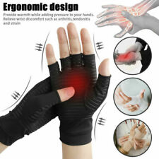 A Pair Anti Arthritis Gloves Hand Support Pain Relief Finger Compression US