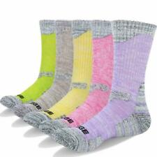 Yuedge 5 Pairs Women'S Wicking Cushion Cotton Crew Outdoor Multi Performance Tre