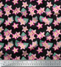 Soimoi Fabric Leaves & Cypress Floral Printed Craft Fabric by the Yard - FL-751A